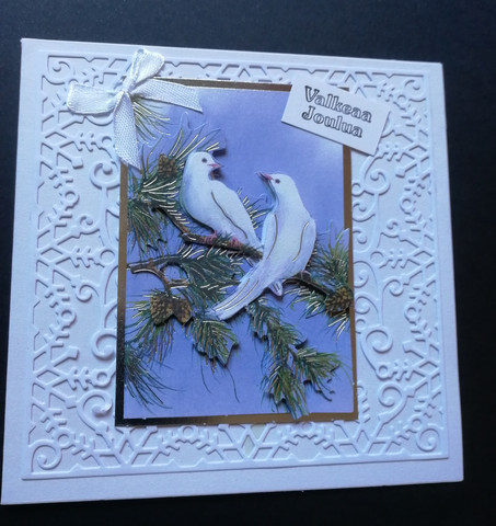 Christmas card doves