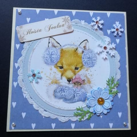 Christmas card with a fox