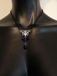 Violet drop necklace