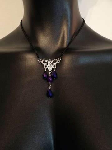 Violet drop necklace