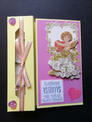 Angel Valentines day candle card