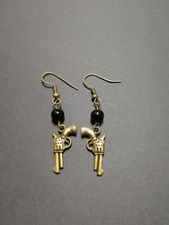 Six shooter earrings