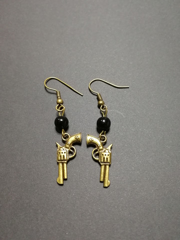 Six shooter earrings