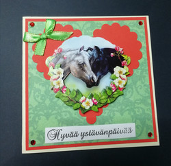 Horses Valentine's day card