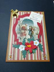 Joulupukki ja lapset kortti