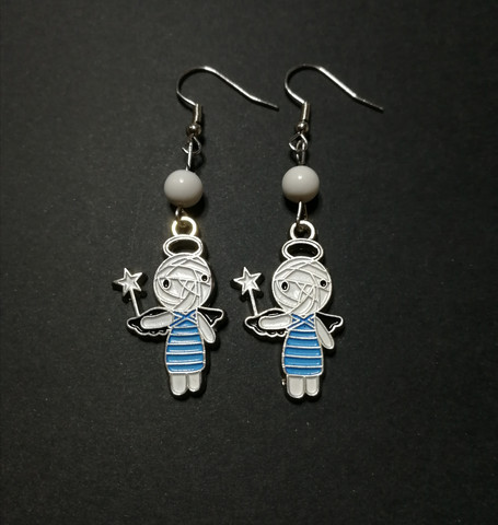 Angel mummy earrings