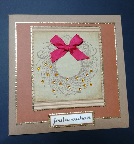 Christmas card brown wreath