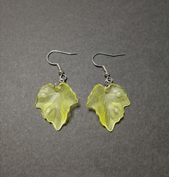 Yellow maple leaf earrings