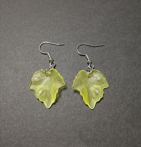 Yellow maple leaf earrings