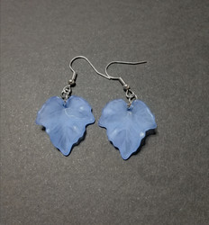 Blue maple leaf earrings