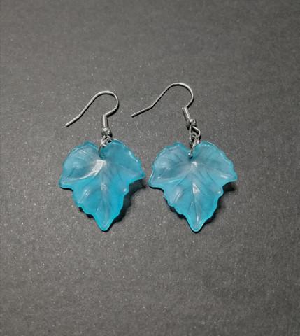 Turquoise maple leaf earrings