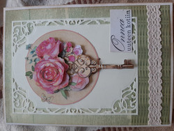 Housewarming card with roses