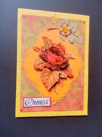 Autumn rose card
