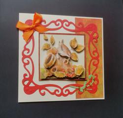 Autumn bird card