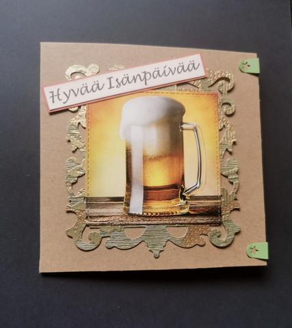 Isänpäiväkortti tuopilla