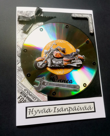 Moottoripyörä isänpäiväkortti