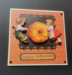 Halloween kortti lapset
