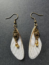 Brown fairy wing earrings
