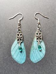 Light blue fairy wing earrings