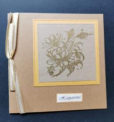 Flower wedding card