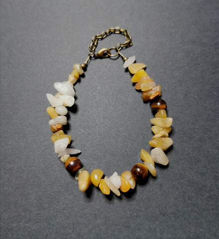 Yellow stone bracelet