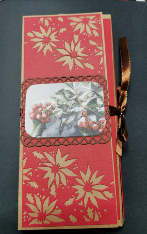 Chocolate bar card with berries