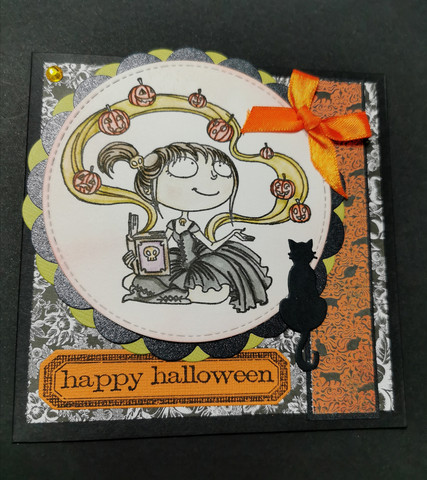 Halloween card magic pumpkins
