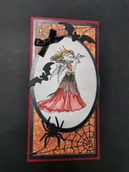 Vampire queen Halloween card