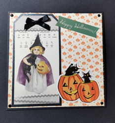 Happy halloween card with cats