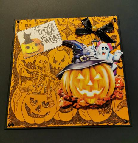 Halloween kortti karkki vai kepponen