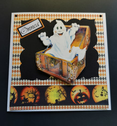 Haunted chest Halloween card
