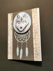 Dreamcatcher card and wolf