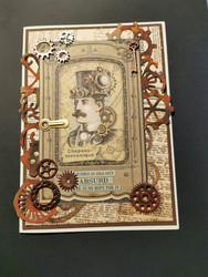 Steampunk man card