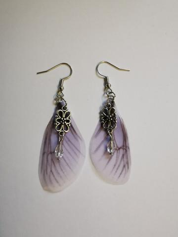 Lilac fairy wing earrings