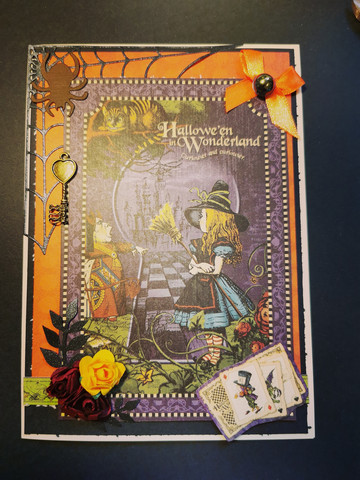 Kortti Hallowe'en In Wonderland