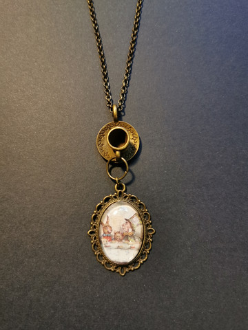 Mad Hatter's tea party necklace
