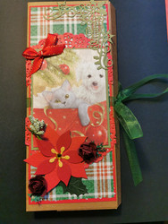 Chocolate card with cat and dog.