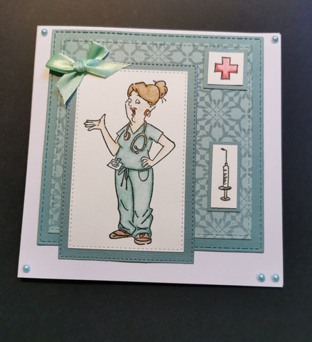 Card for a nurse