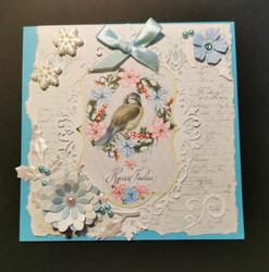 Light blue Christmas card