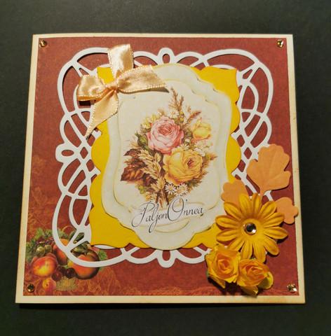 Autumn congratulation card