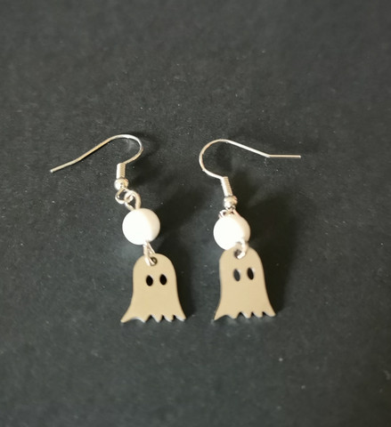Small ghost earrings