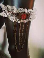 Steampunk garter