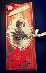 Vintage girl Chocolate bar card