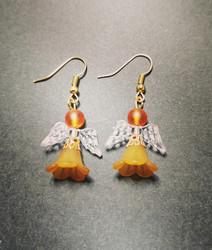 Oranssit enkeli korvakorut