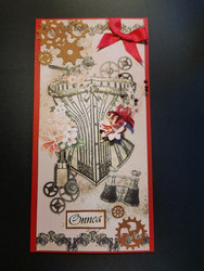 Steampunk kortti korsetti pitkä malli