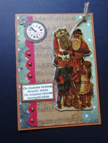 Joulupukki kortti