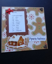 Christmas card ginger bread recipe