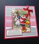 Elf and goath Christmas card