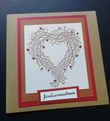 Twig heart wreath Christmas card