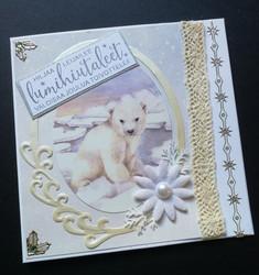 Jääkarhu joulukortti